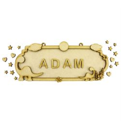 Fairy MDF Wood DIY Craft Shapes Room Door Wall YOUR NAME Sign Plaque